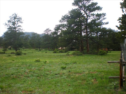 This .89 acre lot has mature trees and mountain views.